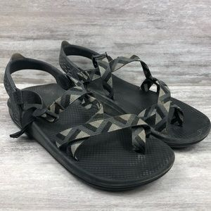 CHACCO black strappy hiking sandal